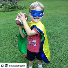 #tbt  to this guy who totally gets it. #repost ・・・ A little superhero football time in the backyard. 4 capes are better than one. #everfan