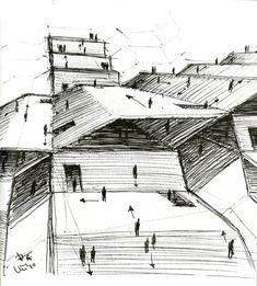 """""""The function of the oblique"""" / Claude Parent y Paul Virilo / 1963-1969. En 1963 Claude Parent y Paul Virilo forman el """"Architecture Principe group"""" con la intención de inve…"""