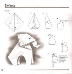 Elefante -Origami simples e fácil