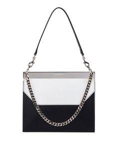 Alexander McQueen Bar Colorblock Leather Shoulder Bag d63d921be2c79