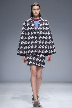 I love this massive houndstooth >>  Anna October Kiev Fall 2016 Fashion Show