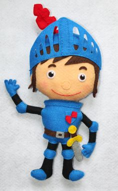 Mike The Knight Felt Name Banner Wall by HappyTreeDecorations