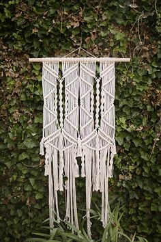 Macrame wedding hanging installation