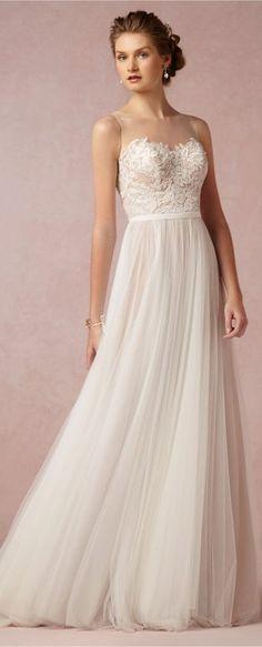 pretty wedding dresses simple alexander mcqueen lace 2016-2017 ...