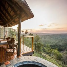 Looking our over Africa. Below you roam lions, elephants, giraffes and more more. Giraffes, Elephants, Honeymoon Destinations All Inclusive, Romantic Getaway, Outdoor Furniture, Outdoor Decor, Lions, South Africa, Home Decor
