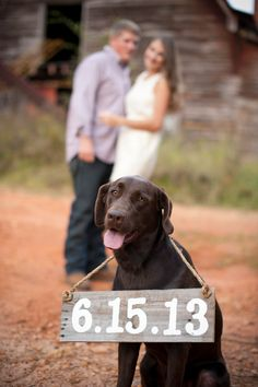 Rustic Save The Date Sign