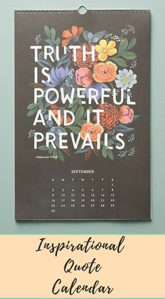 Inspirational quotes whimsical illustrated calendar | Made in USA | Rifle Paper Co. #Affiliate #Quotes #Decor
