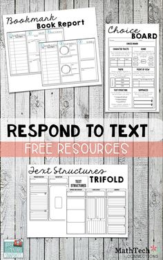 FREE Respond to Text reading workshop writing station This is a time where students get to write about their reading. The station stays the same all year, but the activities in the station change. Below is a list of free activities you can add to your 'Respond to Text' station at the beginning of the year.