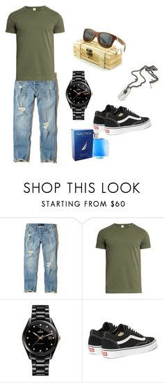 """casual men's look"" by nativeshades on Polyvore featuring Hollister Co., Sørensen, Rado, Vans, Nautica, men's fashion and menswear"