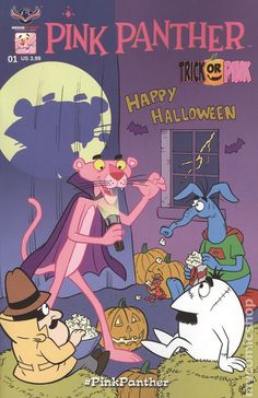 Pink Panther Trick or Pink American Mythology) Halloween Holiday Special issue Mythology Comics Modern Age comic book covers Retro Wallpaper Iphone, Aesthetic Iphone Wallpaper, Disney Wallpaper, Cartoon Posters, Cartoon Pics, Cool Posters, Vintage Disney Posters, Vintage Cartoons, Bedroom Wall Collage