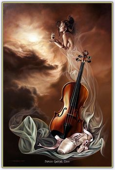 ImageShack - Best place for all of your image hosting and image sharing needs Music Painting, Art Music, Violin Art, Music Wallpaper, Beautiful Paintings, Art Pictures, Fantasy Art, Art Drawings, Fine Art