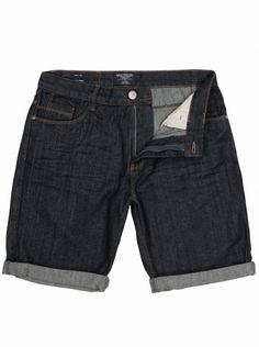 Navy blue denim shorts with front and back pockets including coin pocket. Go Blue, Navy Blue, Men Fashion, Blue Denim, Indigo, Bermuda Shorts, Denim Shorts, Stylish, Shirts