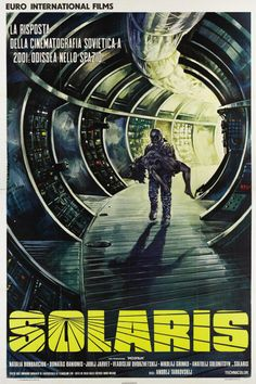 Solaris Directed by Andrei Tarkovsky. A Soviet science fiction art film adaptation of Polish author Stanisław Lem's novel Solaris Best Movie Posters, Cinema Posters, Movie Poster Art, Poster S, Sci Fi Films, Cult Movies, Film Movie, Film Science Fiction, Italian Posters
