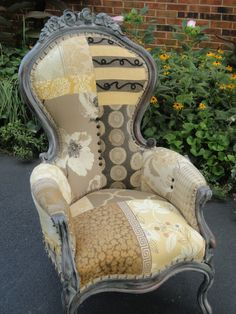 "restyled victorian chair, better known as the ""lala"" chair"