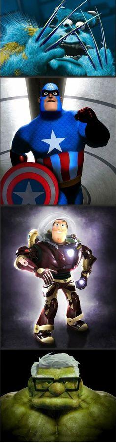 Pixar meets Marvel