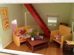 This is a great tutorial if you have a dollhouse in your classroom.  Easy way to make doll house furniture.