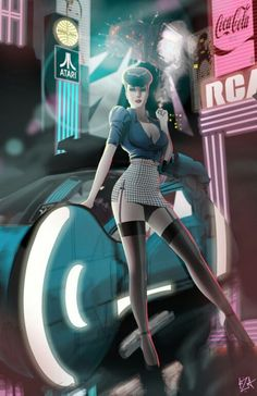 Blade Runner: Beautiful anime version of Sean Young's character.