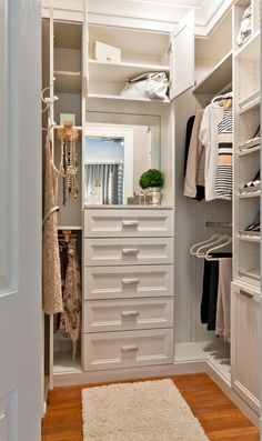 Cool Inspiration For Walk In Wardrobe Ideas: Exciting Walk In Wardrobe Ideas  Also Brown Laminate Floor And Small Fur Rug Also Small Dresser ...