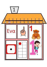...Το Νηπιαγωγείο μ' αρέσει πιο πολύ.: Τα σπιτάκια των αριθμών Learning Numbers, Math For Kids, Maths, Kindergarten, Classroom, Preschool, Numbers Preschool, Math Games, Human Body