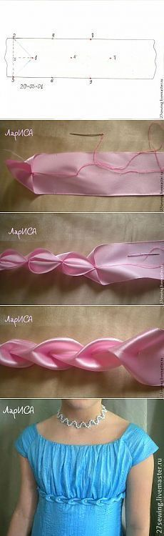 Flowers fabric manipulation ribbon embroidery 50 new ideas Sewing Hacks, Sewing Tutorials, Sewing Crafts, Sewing Projects, Sewing Patterns, Ribbon Art, Ribbon Crafts, Ribbon Flower, Fabric Ribbon