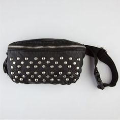 T-SHIRT & JEANS Studded Faux Leather Fanny Pack