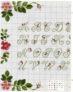 Riscos, gráficos e dicas de variadas técnicas de bordado utilizando fitas, linhas, sianinhas etc
