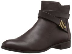 Anne Klein Women's Kael Leather Boot ** Trust me, this is great! Click the image. : Ankle Boots
