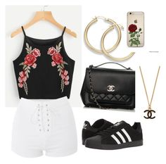 """""""Everyday look"""" by maribeltheflower on Polyvore featuring Topshop, adidas and Chanel"""