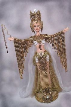 SALE! Barbie Egyptian Cleopatra Nefertiti Nile Queen OOAK Altered Doll * PASSION