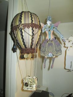 Steampunk Hot Air Balloon by PollonAlterations. https://www.youtube.com/watch?v=HnRB6ZF2imY https://www.facebook.com/PollonAlterations
