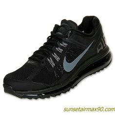 Cheap Nike Air Max 2013 Mens Shoes For Sale Black Dark Grey 554886 001