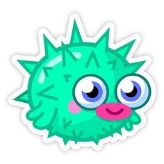 moshi monsters moshlings   Moshi Monsters MOSHLINGS Wall Graphics from WALLS 360: Blurp Moshling ...