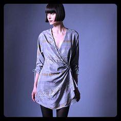 Hp Hayden Harnett Silk Wrap Dress