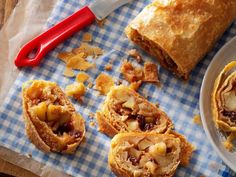 German Apple Strudel Recipe- Recipes This gorgeous strudel has just what you crave this time of year: thin layers of flaky crust and lots of juicy apples. German Desserts, Apple Desserts, Apple Recipes, Dessert Recipes, German Recipes, Raisin Recipes, German Apple Strudel Recipe, Authentic Apple Strudel Recipe, Deutsche Desserts