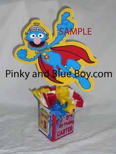 DIY small 12 #Sesame Street Super #Grover by #PinkyandBlueBoyParty, $10.00