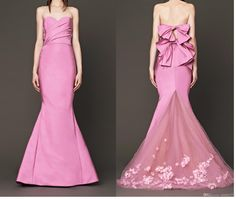 Romantic Pink A-line Sweetheart Long Mermaid Dresses Ruffles Bridesmaid Dress   Buy Wholesale On Line Direct from China