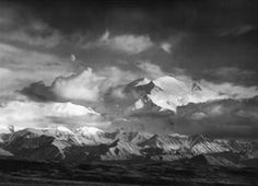 Moon and Mount McKinley by Ansel Adams