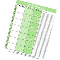 Sunla Designs: Freebies: Household Notebook- Meal Planning