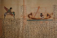Maiherpri Papyrus, Book of the Dead, from unplundered tomb in Valley of the Kings, Maiherpri was a noble, Black Pharaohs, Nubians, Egypt, The Egyptian Museum, Cairo