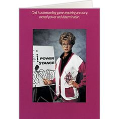 Like Being A Woman Golf Card Birthday Cards Greeting Discount