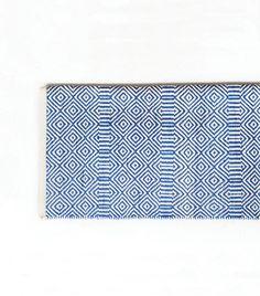 Tapis ethnique bleu et blanc 120x180 cm