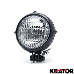 Krator Vintage Style Black Motorcycle Headlight Retro For…