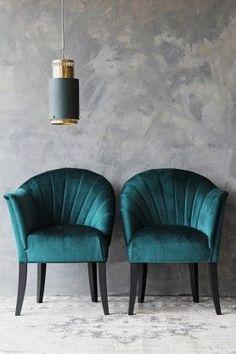 The Lovers Velvet Chair – Ocean Deep Green The Lovers Velvet Chair – Ocean Deep from Rockett St George Art Deco cocktail chair iUnique & Daring Design FoCovet Paris