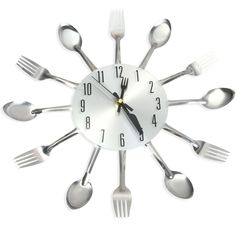 Cheap clock home decor, Buy Quality kitchen wall watch directly from China wall watch Suppliers: Promotion! Large Wall Clock Modern Design Stainless Steel Kitchen Wall Watch Quality Quartz Needle Clock Home Decoration Wall Clock Analog, 3d Wall Clock, Metal Clock, Diy Clock, Stainless Steel Types, Stainless Steel Kitchen, Wall Clock Price, Home Office, Office Decor