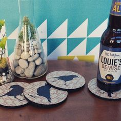 Cheeky Birds Coasters by Flox Home #Bird, #Coaster, #MadeInUSA