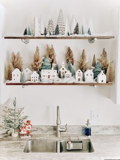 White ceramic houses for Christmas decor Merry Little Christmas, Cozy Christmas, Rustic Christmas, Scandinavian Christmas, Theme Noel, Christmas Aesthetic, Christmas Inspiration, Xmas Decorations, Christmas Projects