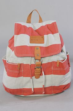 The Get Go Backpack in Red Stripe  Nixon