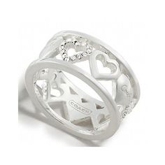 Sterling Heart Band Ring found on Polyvore 2011