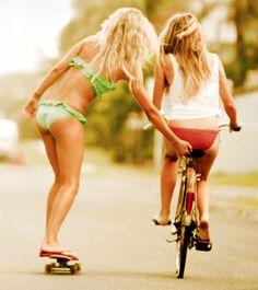 skateboard, wear my bikini all summer long Best Friend Pictures, Friend Photos, Summer Breeze, Summer Vibes, Summer Of Love, Summer Fun, Summer Sport, Free Summer, Summer Days
