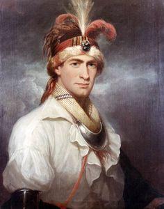 Portrait of William Augustus Bowles (Estajoca), an Indian Leader, c. 1795.
